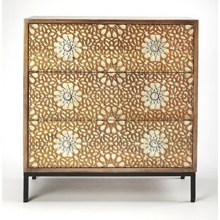 Great choice Genoveva Carved 3 Drawer Dresser by World Menagerie