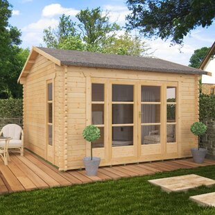 Balinese 12 X 10 Ft. Tongue And Groove Log Cabin By Tiger Sheds