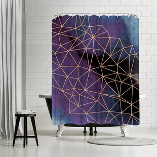 East Urban Home Emanuela Carratoni Ultraviolet Storm Shower Curtain