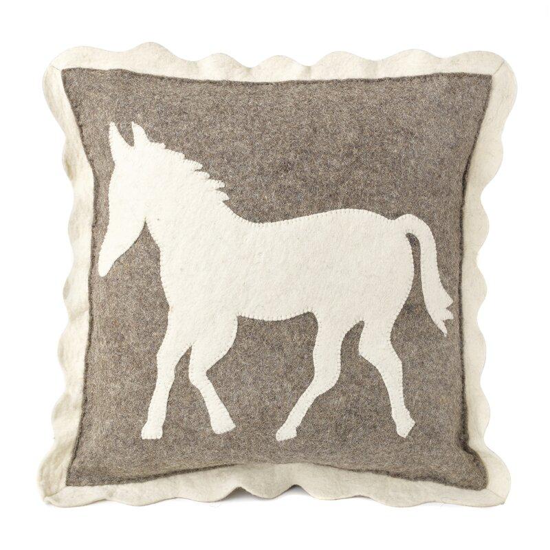 Arcadia Home Lecompte Horse Wool Throw Pillow Wayfair