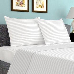 Sheldrake 600 Thread Count Striped 100% Cotton Sheet Set ByBirch Lane™