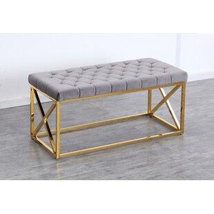 Mercer41 Genoa Velvet Upholstered Bench