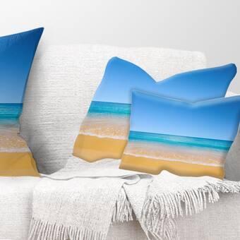 East Urban Home View Of Tropical Beach Seashore Photo Lumbar Pillow Wayfair