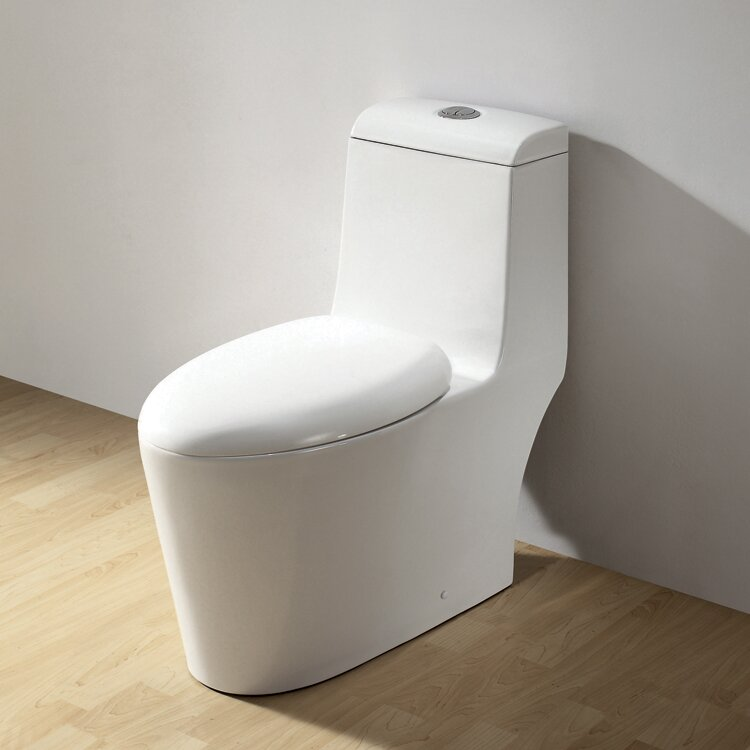 royal dual flush elongated onepiece toilet