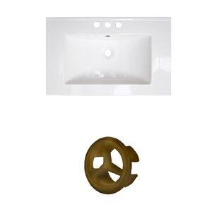 Flair Ceramic 25 Single Bathroom Vanity Top by American Imaginations