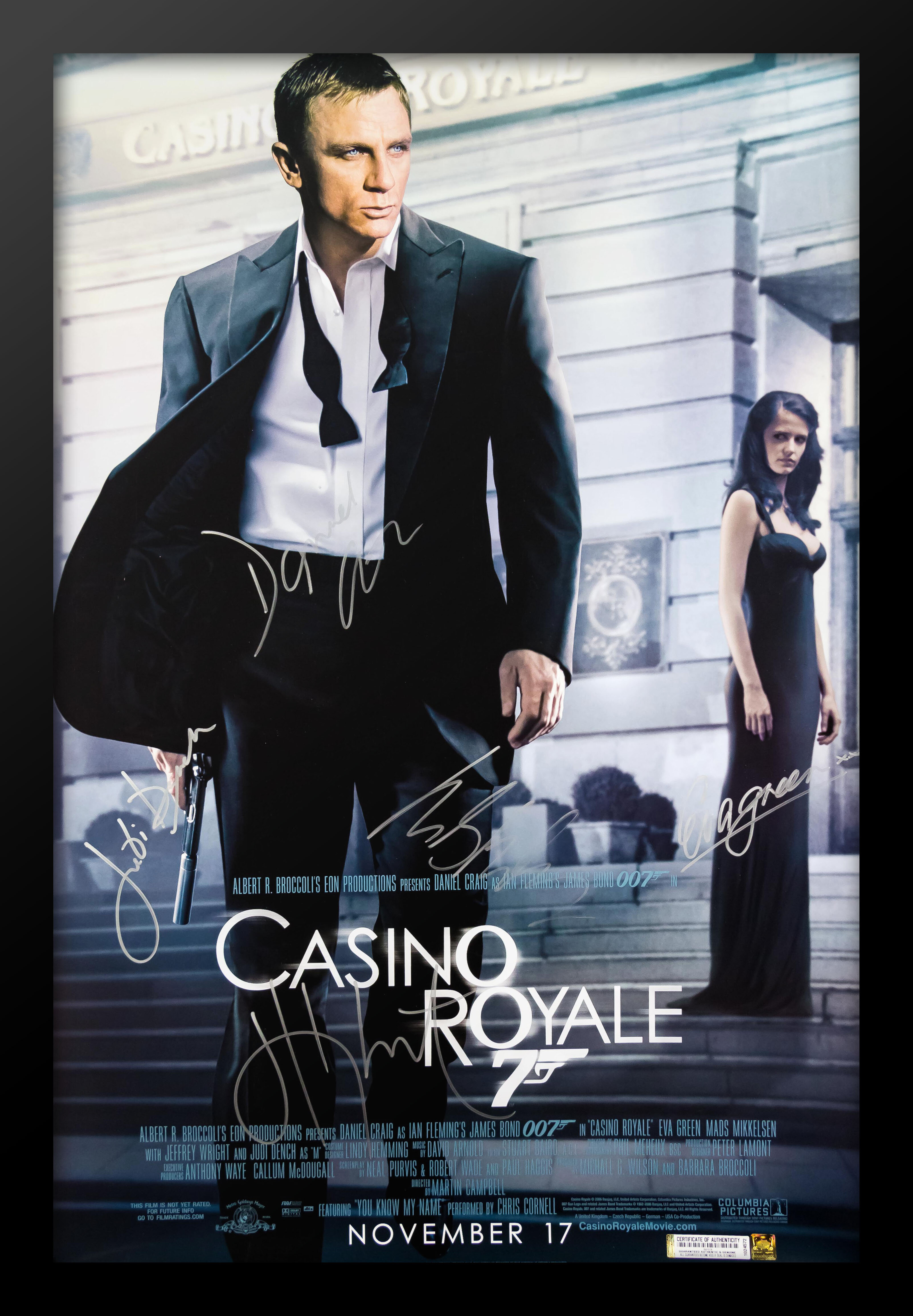 Luxewest James Bond Casino Royale Framed Autographed Movie Poster Wayfair