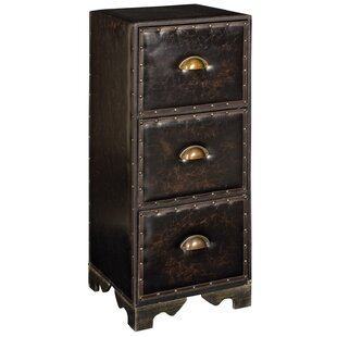 Faux Leather 3 Drawer Cabinet