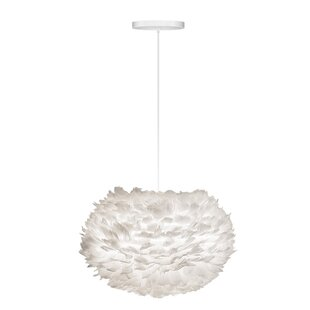 Eos Hardwired 1-Light Modern Feather Globe Pendant ByUmage