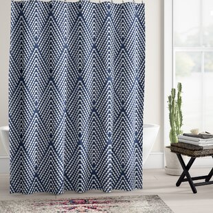 Leia Geometric Single Shower Curtain