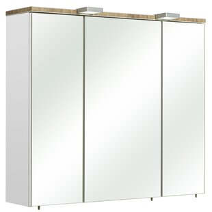 Burgas 80 X 70cm Mirrored Wall Mounted Cabinet By Quickset