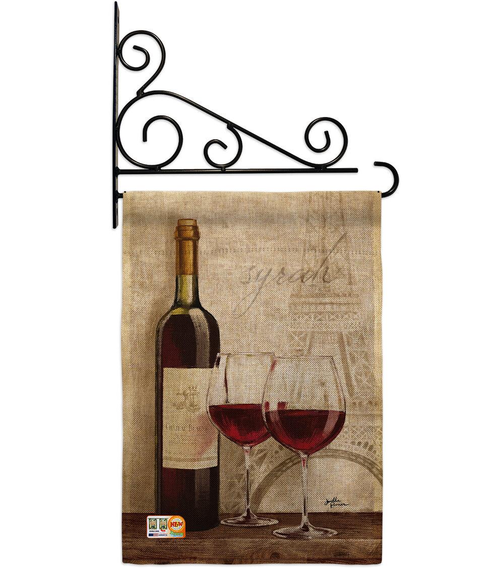 Breeze Decor Wine In Paris Happy Hour And Drinks 2 Sided Burlap 19 X 13 In Garden Flag Wayfair