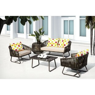 Finest 5 Piece Sofa Set with Cushions