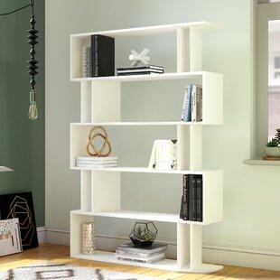 Ezra Modern Geometric Bookcase