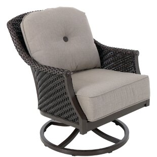 Red Barrel Studio Kanzler Aluminum Outdoor Wicker Swivel Lounge Patio Chair