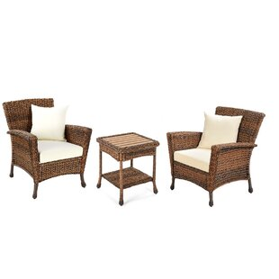 Rutkowski Garden Patio 3 Piece Seating Group with Cushions