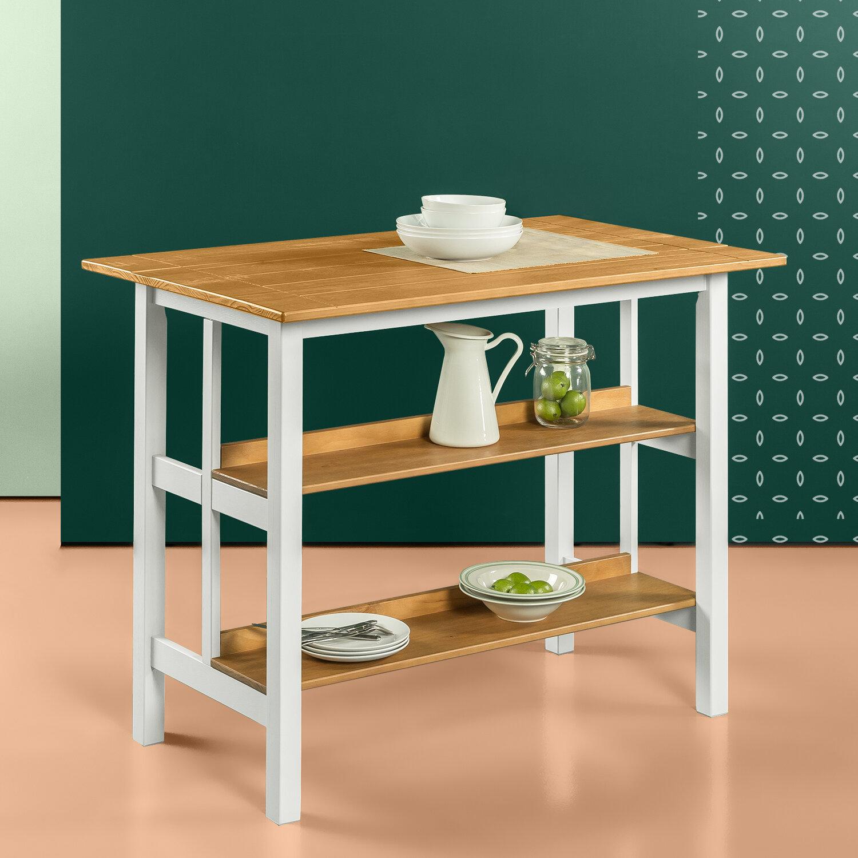 Brayden Studio 114 3cm Solid Wood Prep Table Reviews Wayfair Co Uk