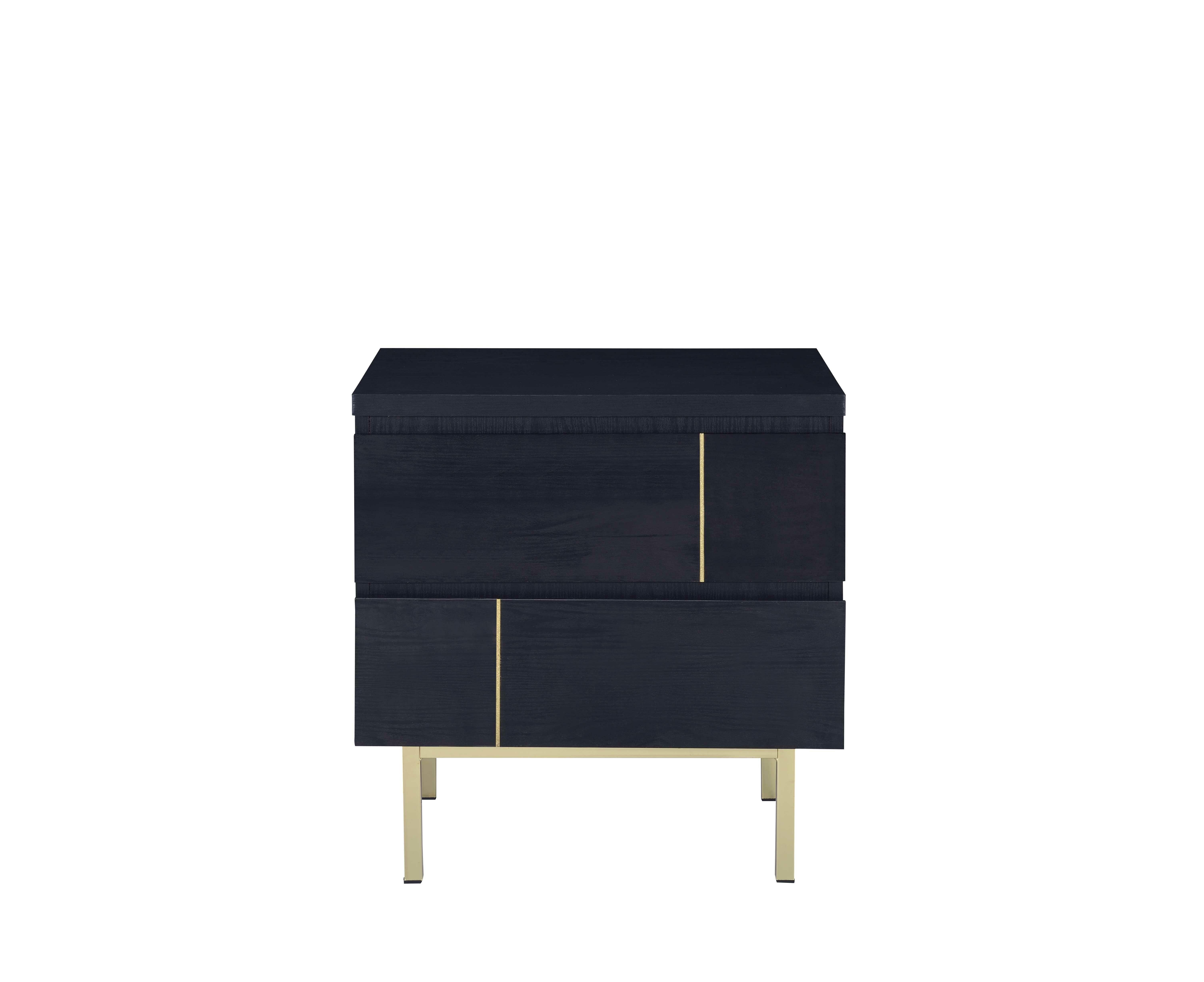 orren ellis flagg 2 drawer nightstand w