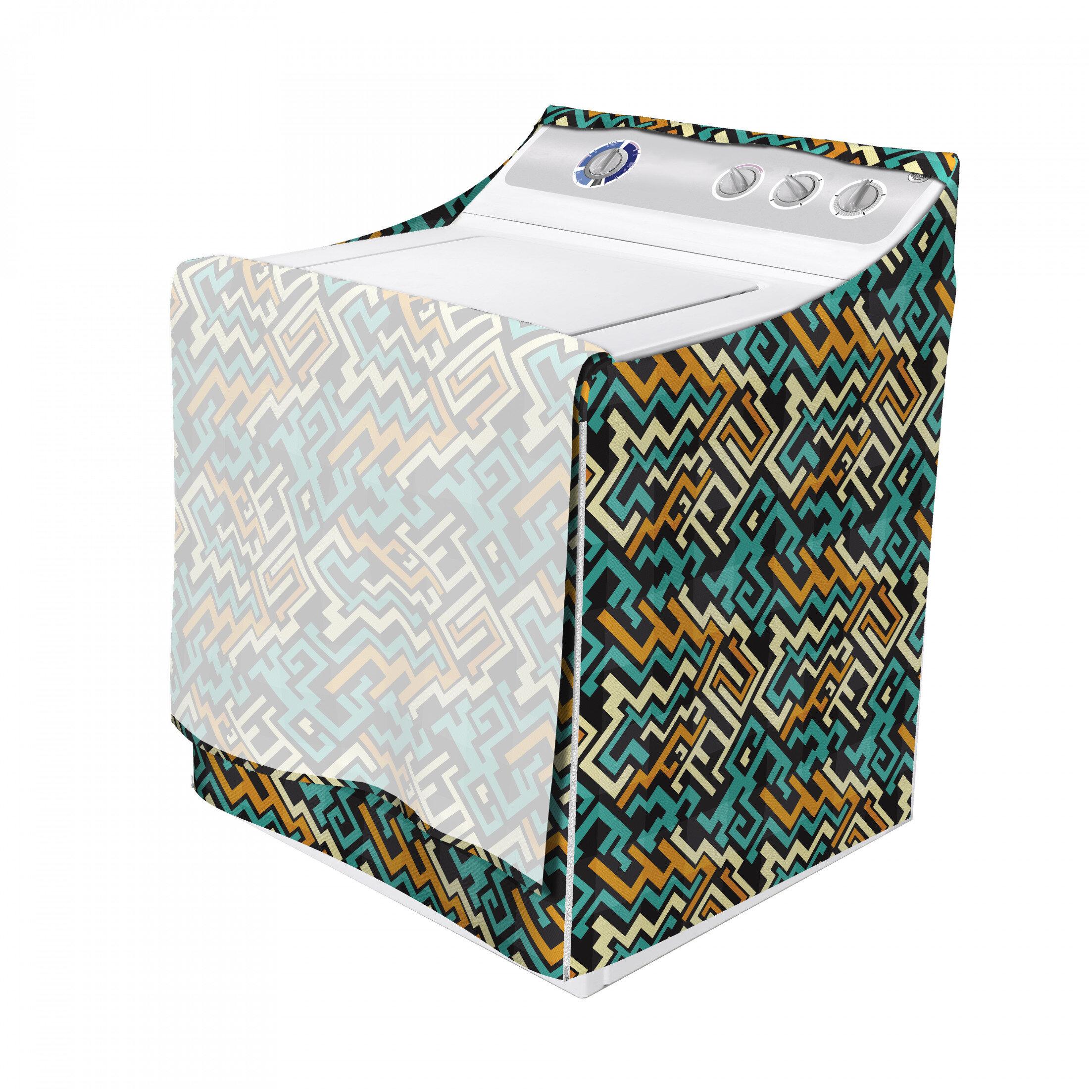 East Urban Home Abstract Modern Future Inspiration Line Art Surreal Design Washing Machine Cover Wayfair