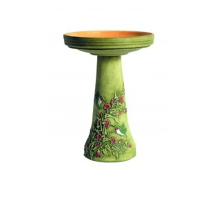 Birds Choice Burley Handpainted Hummingbird Birdbath