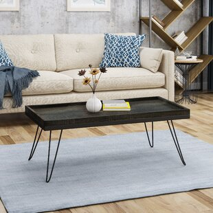 Brackman Coffee Table with Tray Top by Union Rustic