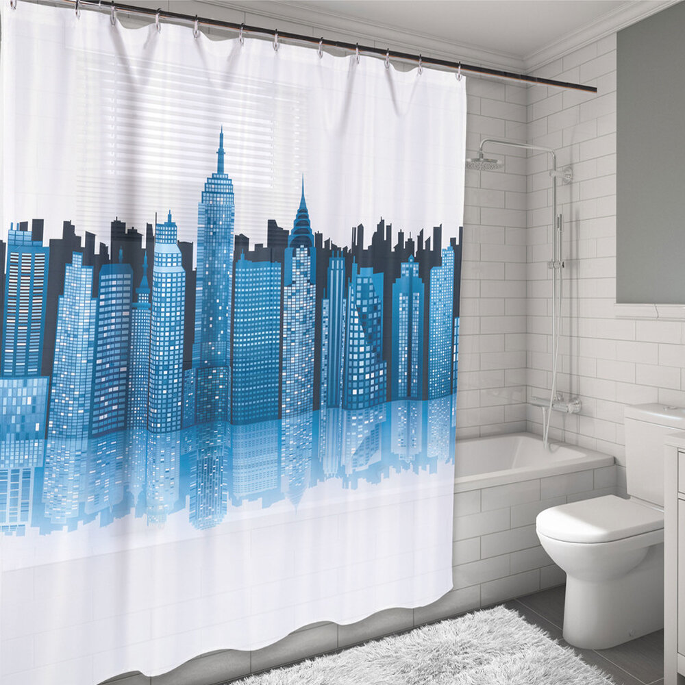 Sweet Home Collection New York City Skyline Water Resistant Shower ...