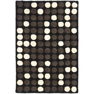 Top Reviews Freda Hand-Tufted Black/White Area Rug By Zipcode Design