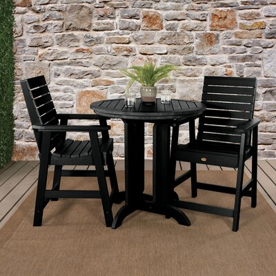 Deerpark 3 Piece Bistro Set by Longshore Tides Top Reviews