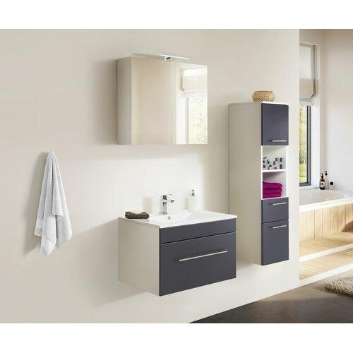 Viva 3-Piece Bathroom Furniture Set Belfry Bathroom Furniture Finish: Anthracite/White