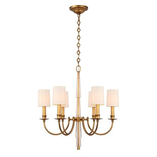 Crystorama Lawson 6-Light Shaded Chandelier