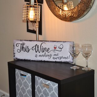This Wine Funny Saying Wood Wall Decor