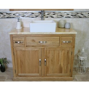 Reuben Solid Oak 1000mm Free-Standing Vanity Unit By Belfry Bathroom