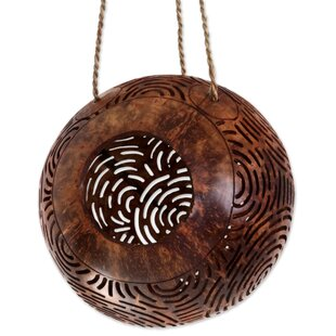 Novica Coconut Shell Circle Maze 9 in x 2 in x 9 in Birdhouse