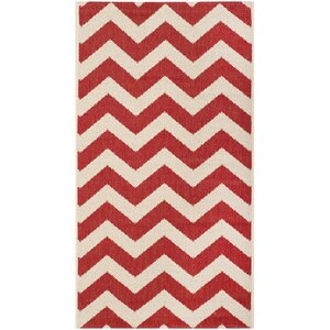 Jefferson Place Red Indoor/Outdoor Area Rug