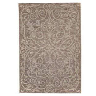 Ornament Indoor and Outdoor Brown Rug by Home Loft Concept