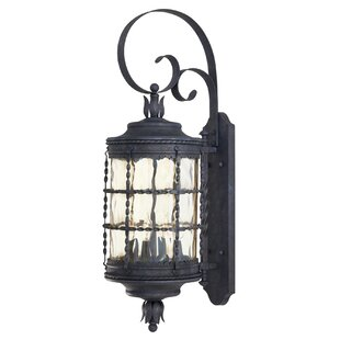 Gracie Oaks Calem 4-Light Outdoor Wall Lantern