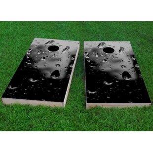 Custom Cornhole Boards Rain Drops Cornhole Game (Set of 2)