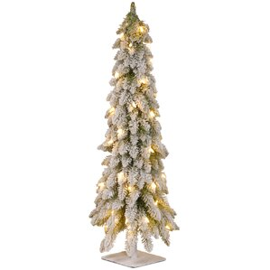 white christmas trees youll love wayfair - 3 Christmas Tree