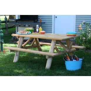 Lakeland Mills Wooden Picnic Table