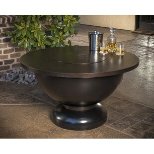 CC Products Modish Steel Natural Gas Fire Pit Table