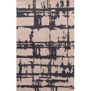 Affordable Price Sylvester Moroccan Traditional Oriental Hand-Knotted Wool Beige/Black Area Rug By Williston Forge
