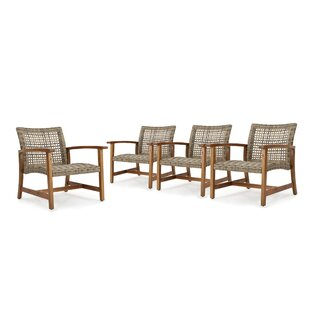 Teresa Mid Century Patio Chair (Set of 4)
