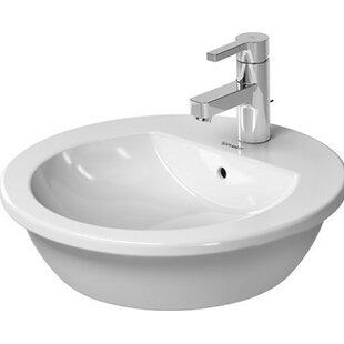 Bargain Darling New Ceramic Circular Vessel Bathroom Sink with Overflow By Duravit