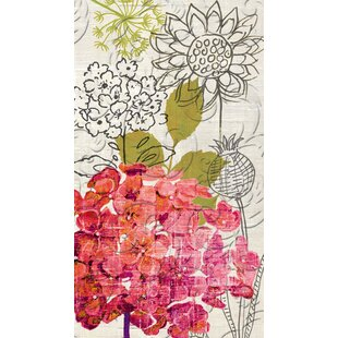 Sketch Floral Embossed Hand Towel (Set of 15)