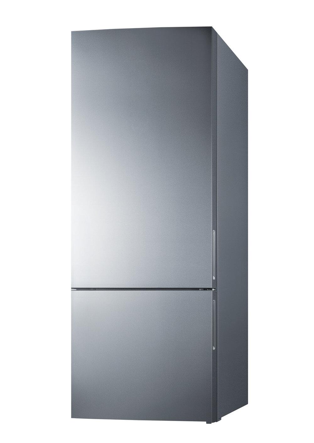 Thin Line 14 8 Cu Ft Energy Star Counter Depth Bottom Freezer Refrigerator With Led Lighting