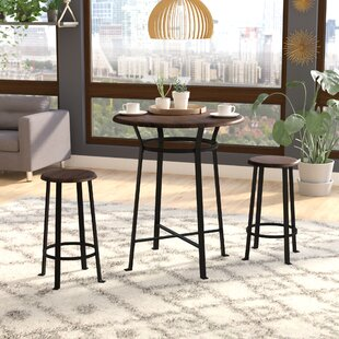 Grandview 3 Piece Solid Wood Dining Set Ebern Designs