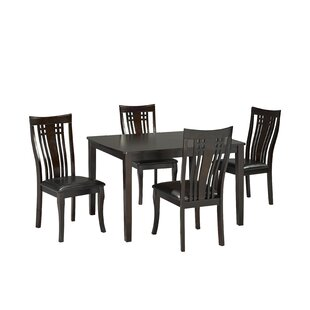 Hannum 5 Piece Dining Set Alcott Hill