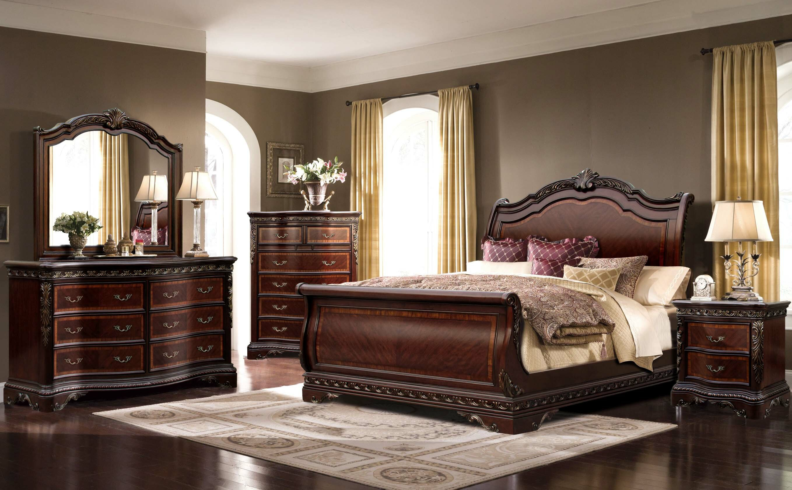 Astoria Grand Muni Queen Sleigh 4 Piece Bedroom Set Reviews Wayfair