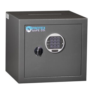 Protex Safe Co. Top Drop Burglary Safe Box with Electronic Lock