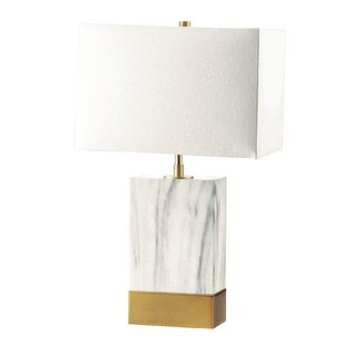 Schmidt Table Lamp in White and Satin Gold