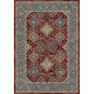 Da Vinci Red/Grey Area Rug by Home Loft Concept